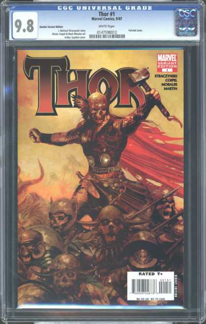 CGC Graded Comics - Thor #1 (CGC) - Thor - Marvel - Rated T - Hammer - Skeleton