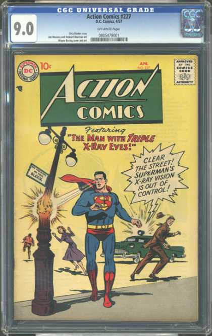CGC Graded Comics - Action Comics #227 (CGC)