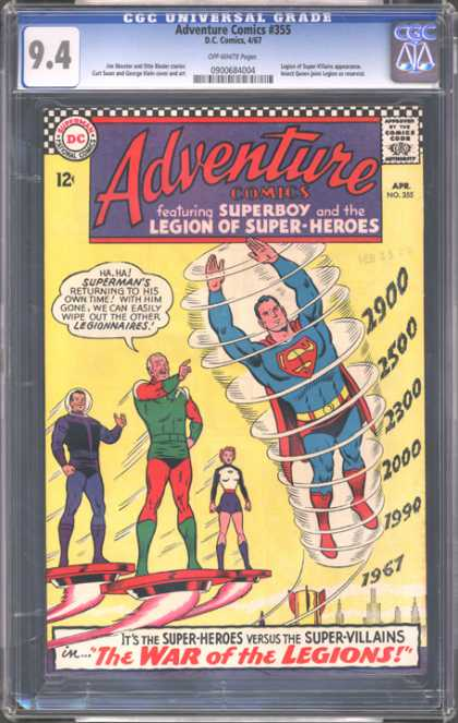 CGC Graded Comics - Adventure Comics #355 (CGC)