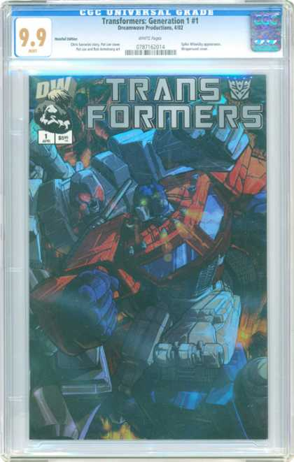CGC Graded Comics - Transformers: Generation 1 #1 (CGC) - Optimus Prime - Megatron - Battle - Punch - Rage
