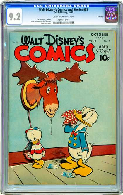 CGC Graded Comics - Walt Disney's Comics and Stories #85 (CGC) - Ducks - A Bad Day For The Moose - Who Thru The Water Balloon - I Didnt Do It - It Only Looks Like Me