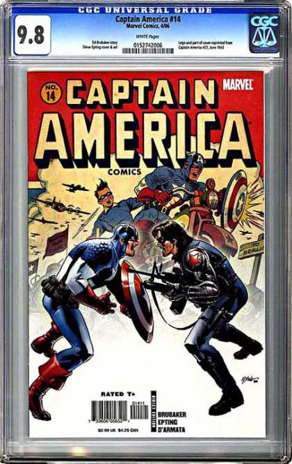 CGC Graded Comics - Captain America #14 (CGC) - Epting - Marvel - Captain America - Shield - Weapon