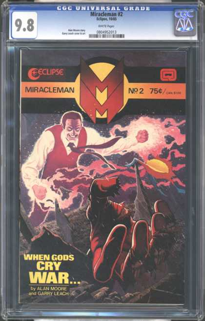 CGC Graded Comics - Miracleman #2 (CGC) - Miracleman 2 - Eclipse - Fighting - Alan Moore - Gore