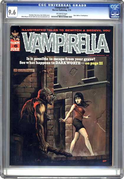 CGC Graded Comics - Vampirella #6 (CGC) - Vampirella - Darkworth - Window - Escape - Grave