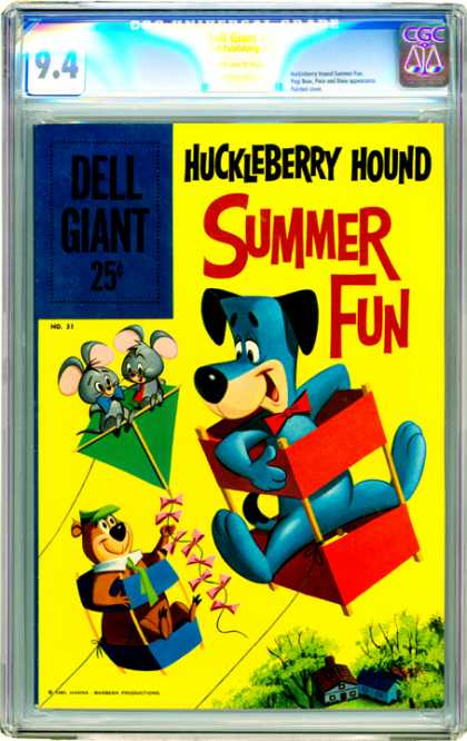 CGC Graded Comics - Dell Giant #31 (CGC) - Dog - Kites - Mice - Yogi - Trees