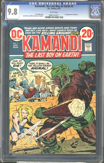 CGC Graded Comics - Kamandi, the Last Boy on Earth #5 (CGC) - One Of You Must Die - The Last Boy On Earth - Murdock Air Field - It Shall Be The Yellow-haired Animal - What Chance Does He Have On The Killing Ground