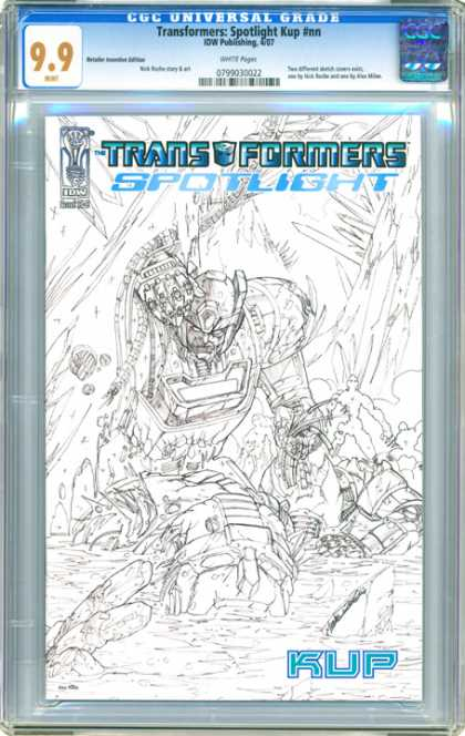 CGC Graded Comics - Transformers: Spotlight Kup #nn (CGC) - Transformers - Kup - Iow Publishing - Cgc - Spotlight