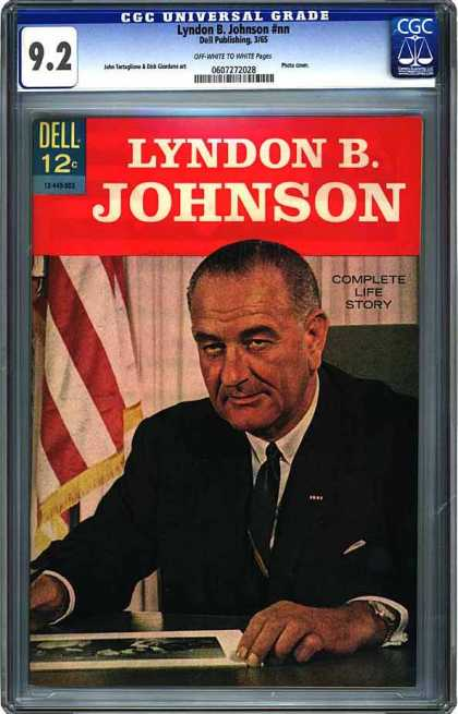 CGC Graded Comics - Lyndon B. Johnson #nn (CGC) - Lyndon B Johnson - Complete Life Story - Dell - President - American Flag