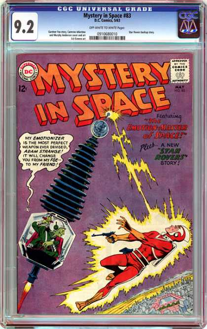 CGC Graded Comics - Mystery in Space #83 (CGC) - Star Rovers - Emotionizer - Lightning - Adam Strange - Weapon