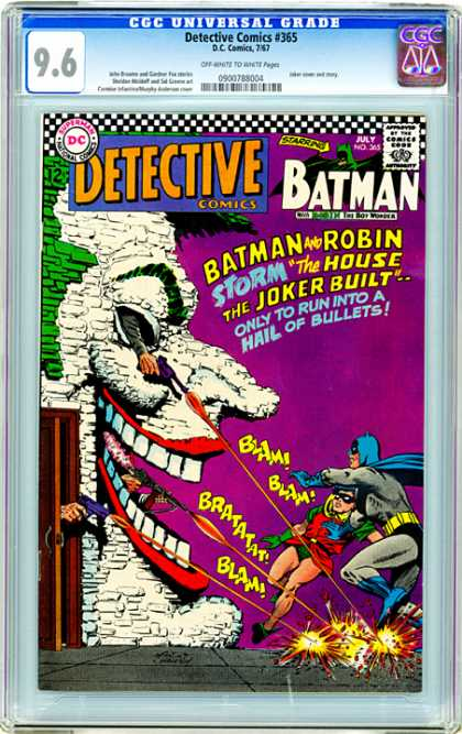 CGC Graded Comics - Detective Comics #365 (CGC) - Batman - The House The Joker Built - Hail Of Bullets - Detective - Gun