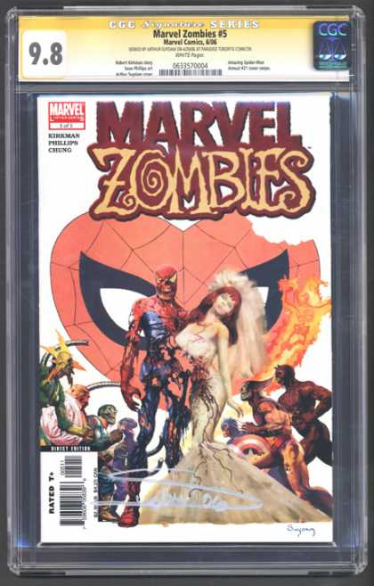 CGC Graded Comics - Marvel Zombies #5 (CGC) - Marvel Zombies - Marvel Comics - 5 - Kirkman - Philips