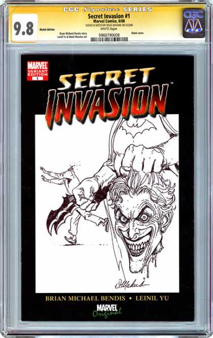 CGC Graded Comics - Secret Invasion #1 (CGC) - Secret Invasion - Marvel Variant Edition - Head - Brian Michael Bendis - Leinil Yu