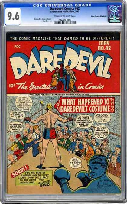 CGC Graded Comics - Daredevil Comics #42 (CGC) - Missing Costume - Dd - Boxing - Secret Identity - Which One Is Real