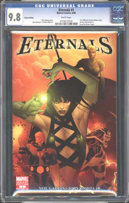 CGC Graded Comics - Eternals #1 (CGC) - Eternals - Leather - Spear - Female - Magic