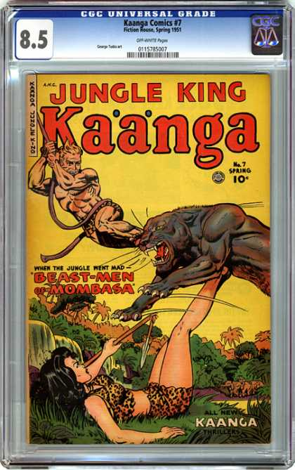 CGC Graded Comics - Kaanga Comics #7 (CGC) - Rope - Kicking - Panther - Woman - Broken Spear