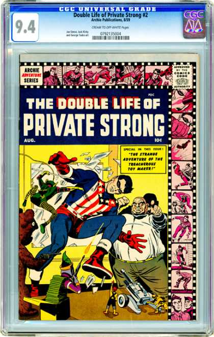 CGC Graded Comics - Double Life of Private Strong #2 (CGC) - Private Strong - Double Life - Film Strip - Mask - Fat Man