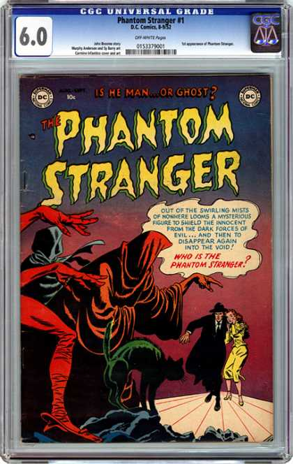CGC Graded Comics - Phantom Stranger #1 (CGC) - Is He Man Or Ghost - Mists Of Nowhere - Dark Forces Of Evil - Cat - Into The Void