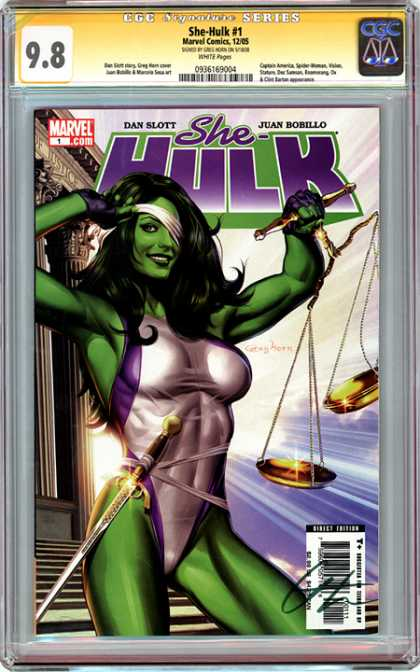 CGC Graded Comics - She-Hulk #1 (CGC) - Sword - Marvel - Dan Slott - Juan Bobillo - She-hulk