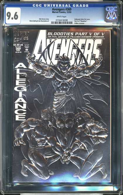 CGC Graded Comics - Avengers #369 (CGC) - Avengers - Bloodties - Allegiance - Part V Of V - Embossed Design