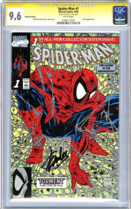 CGC Graded Comics - Spider-Man #1 (CGC) - Torment - Flying Hero - Stall Hero - Marvel - The Legend