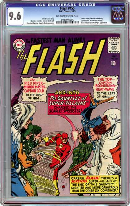 CGC Graded Comics - Flash #155 (CGC) - A Bad Crowd - Flash Marathon - Speed Versus Seven - Flash Against Odds - One Against Seven