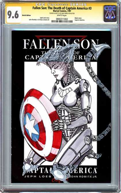 CGC Graded Comics - Fallen Son: The Death of Capatin America #3 (CGC) - Fallen Son - Captain America - Woman - Shield - Jeph Loeb
