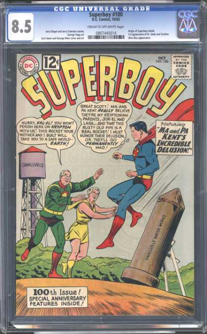 CGC Graded Comics - Superboy #100 (CGC)