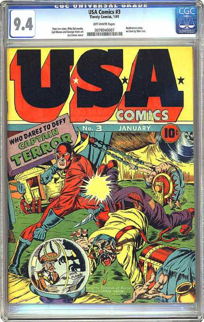 CGC Graded Comics - USA Comics #3 (CGC)