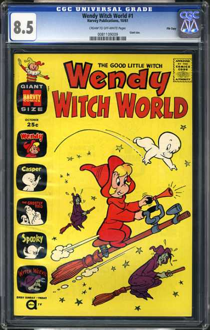 CGC Graded Comics - Wendy Witch World #1 (CGC) - Casper - Witches - Wendy - Spooky - Flying