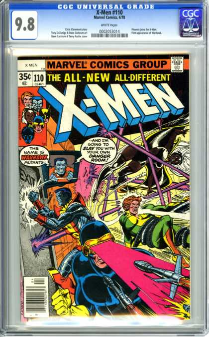 CGC Graded Comics - X-Men #110 (CGC) - Cyclops - Warhawk - Danger Room - Storm - Mutants