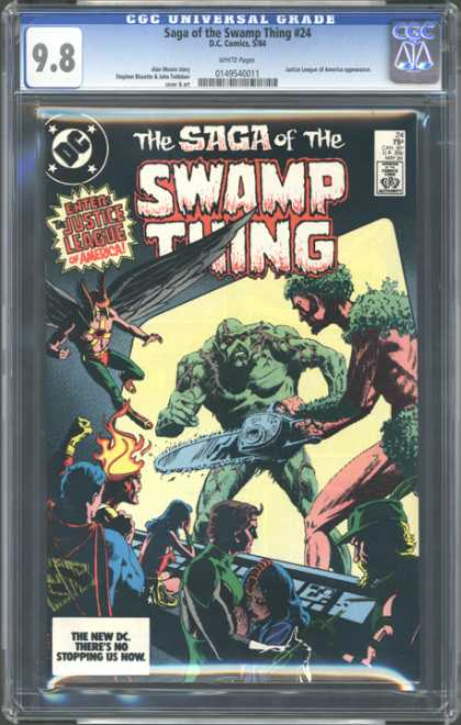 CGC Graded Comics - Saga of the Swamp Thing #24 (CGC)