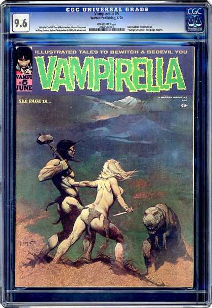CGC Graded Comics - Vampirella #5 (CGC) - June - See Page 15 - Woman - Man - Bewitch
