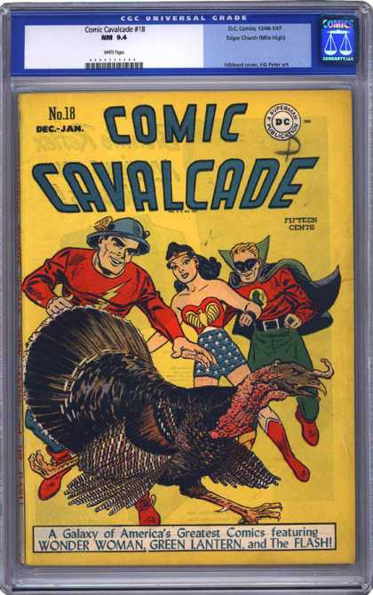 CGC Graded Comics - Comic Cavalcade #18 (CGC) - No 18 Dec-jan - Comic Cavalcade - Turkey - Wonder Woman - The Flash And Green Lantern