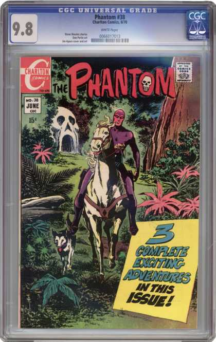 CGC Graded Comics - Phantom #38 (CGC) - The Phantom - Skull - Horse - Dog - Forest