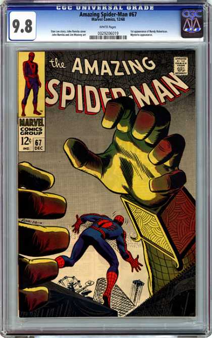 CGC Graded Comics - Amazing Spider-Man #67 (CGC) - Marvel - Marvel Comics - Spider-man - Amazing Spider-man - Spiderman In Trouble