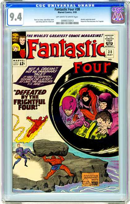 CGC Graded Comics - Fantastic Four #38 (CGC) - Marvel - Superhero - Kirby - Frightful Four - Thing