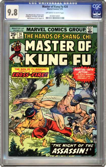 CGC Graded Comics - Master of Kung Fu #24 (CGC) - Master Of Kung Fu - Kung Fu - 24 - Marvel - Shang-chi