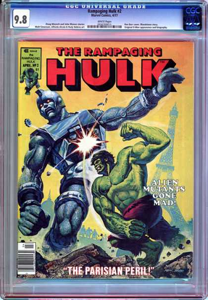 CGC Graded Comics - Rampaging Hulk #2 (CGC) - The Rampaging Hulk - Robot - Alien Mutants Gone Mad - The Parisian Peril - Mutant