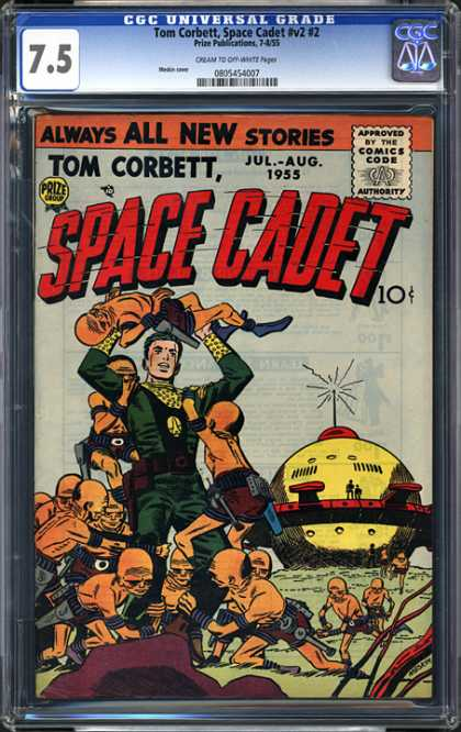 CGC Graded Comics - Tom Corbett, Space Cadet #v2 #2 (CGC) - Aliens - Take Me To Your Leader - Sphere - Planet Of The Midgets - Space