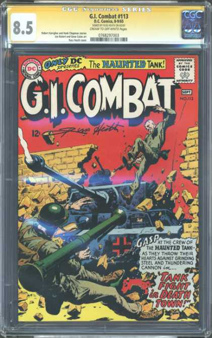 CGC Graded Comics - G.I. Combat #113 (CGC) - The Haunted Tank - Gicombat - Fighting - Soldier - Tank