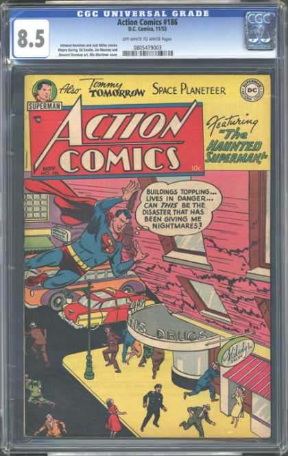 CGC Graded Comics - Action Comics #186 (CGC)