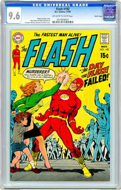 CGC Graded Comics - Flash #192 (CGC) - Lighting Bolt - Murderer - Fastest - No 192 - Flash