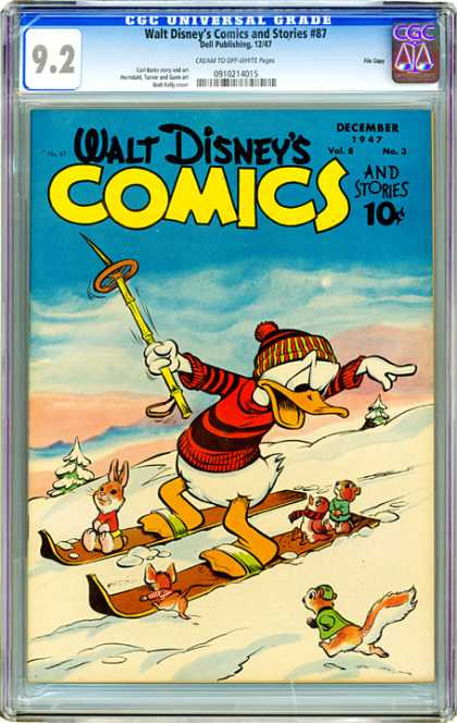 CGC Graded Comics - Walt Disney's Comics and Stories #87 (CGC)