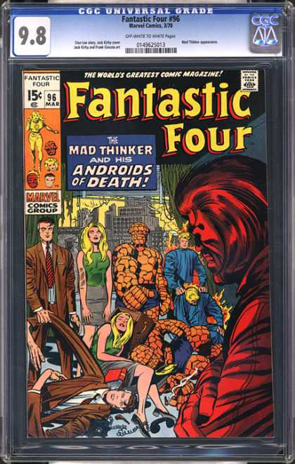 CGC Graded Comics - Fantastic Four #96 (CGC) - Fantastic Four - Mad Thinker - Androids Of Death - Marvel - Copies