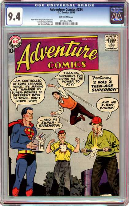 CGC Graded Comics - Adventure Comics #254 (CGC)
