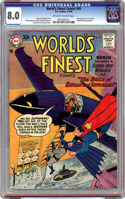 CGC Graded Comics - World's Finest Comics #93 (CGC)