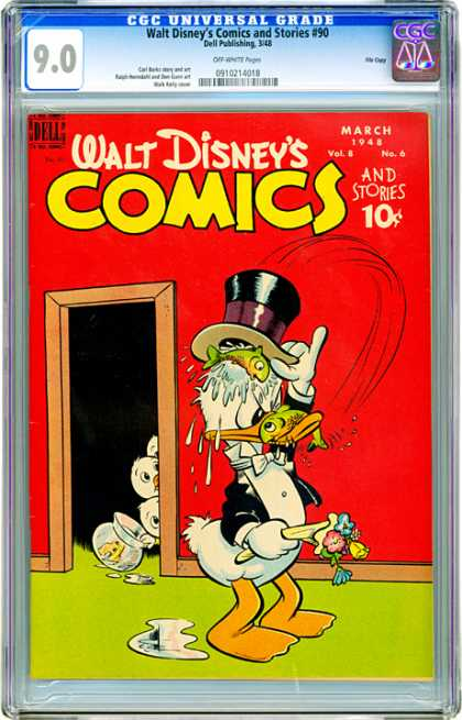 CGC Graded Comics - Walt Disney's Comics and Stories #90 (CGC)