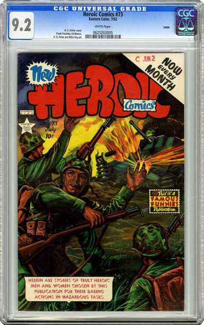 CGC Graded Comics - Heroic Comics #73 (CGC) - War - Army - Fire - Tanks - Guns