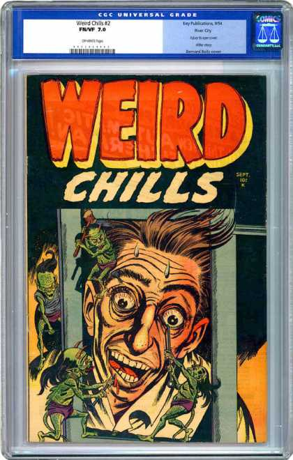 CGC Graded Comics - Weird Chills #2 (CGC) - Weird Chills - Creatures - September - Bloodshot Eyes - Wrinkled Forehead