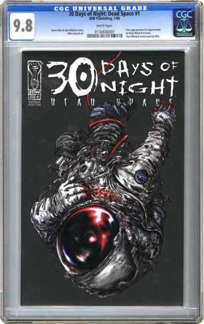 CGC Graded Comics - 30 Days of Night: Dead Space #1 (CGC) - 30 Days - Space - Blood - Astronaut - Scary